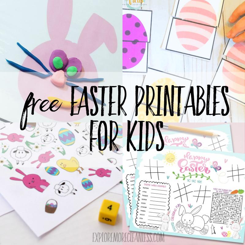 Free Easter Printables for Preschoolers