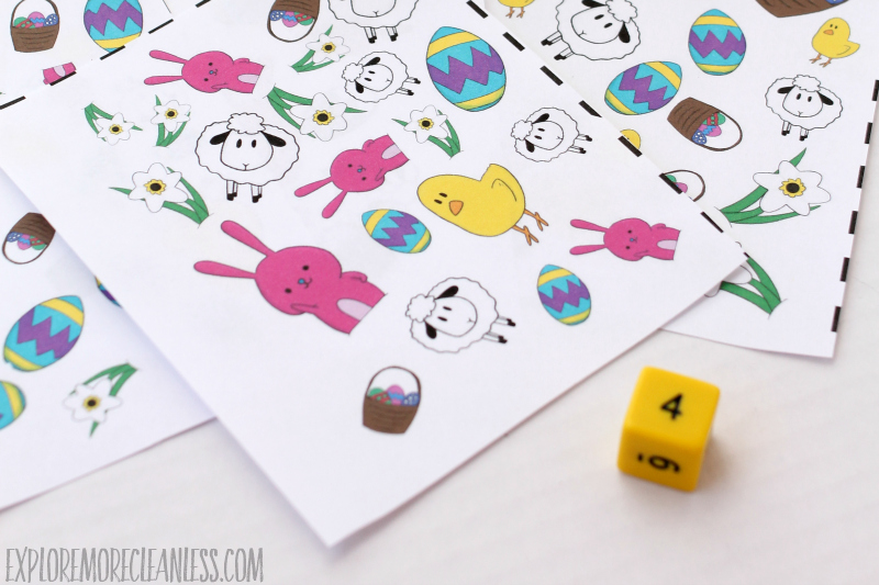 printable easter spot it game