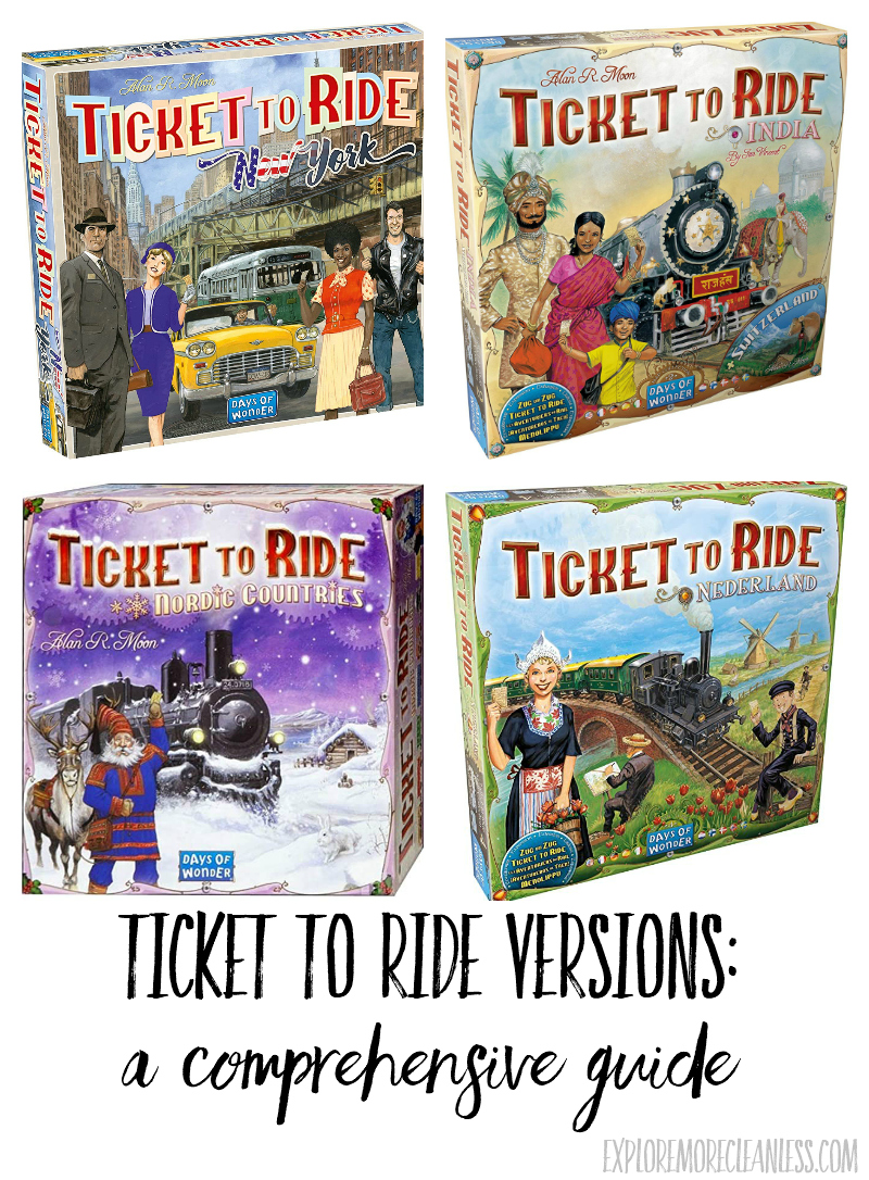 different ticket to ride versions