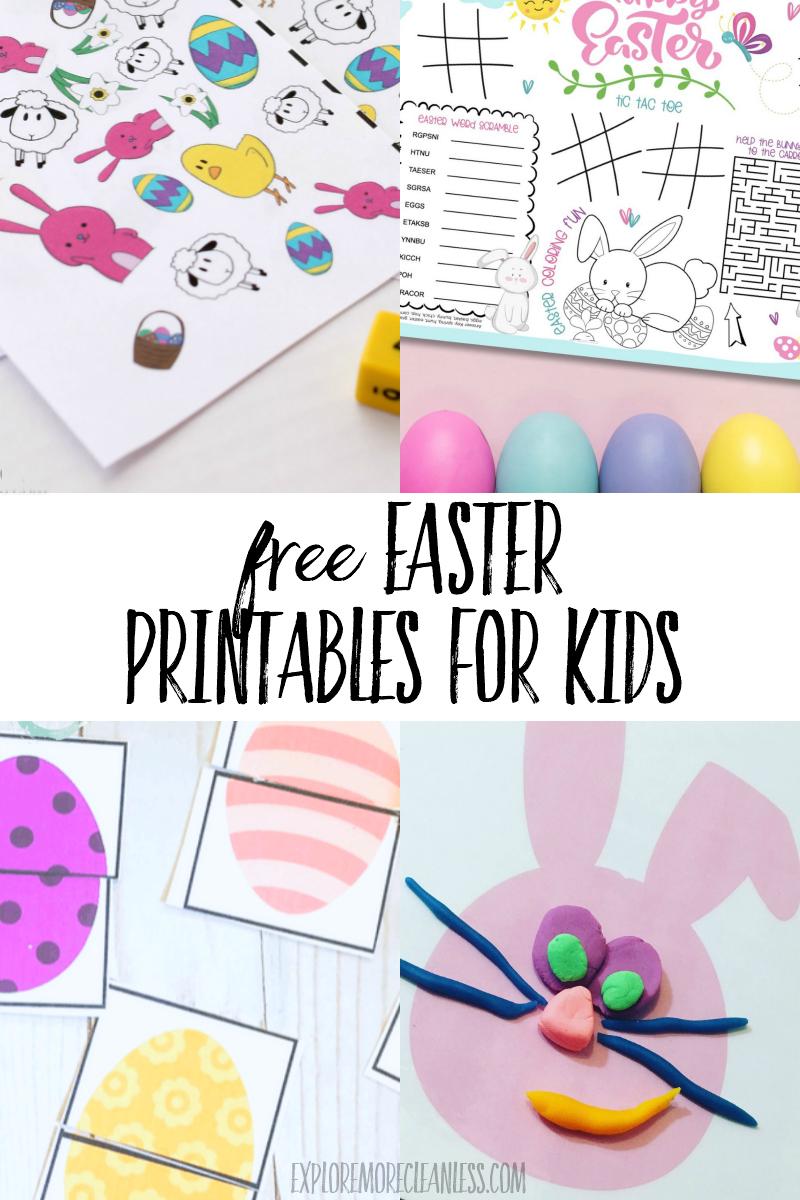 free easter printables for kids