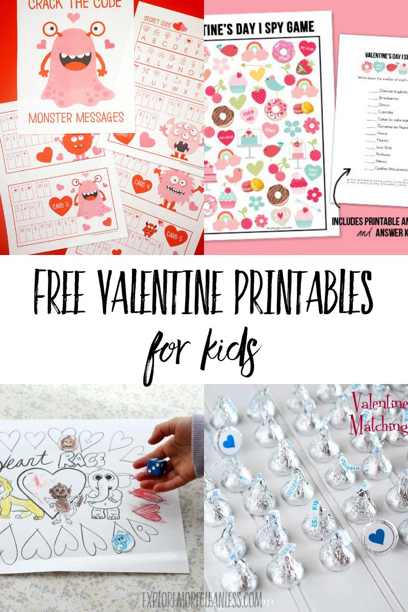 preschooler valentine printables