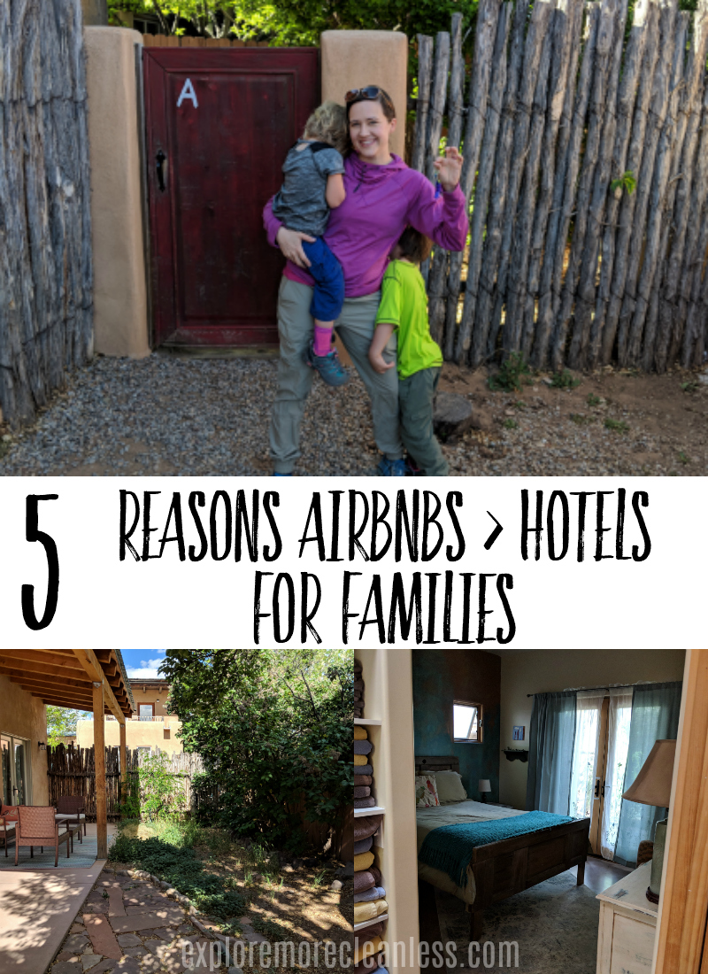 Check out why families should choose airbnbs instead of hotels when they're traveling! Some pros and cons to vacation rentals for traveling with kids. #travel #parenting #vacation #tips