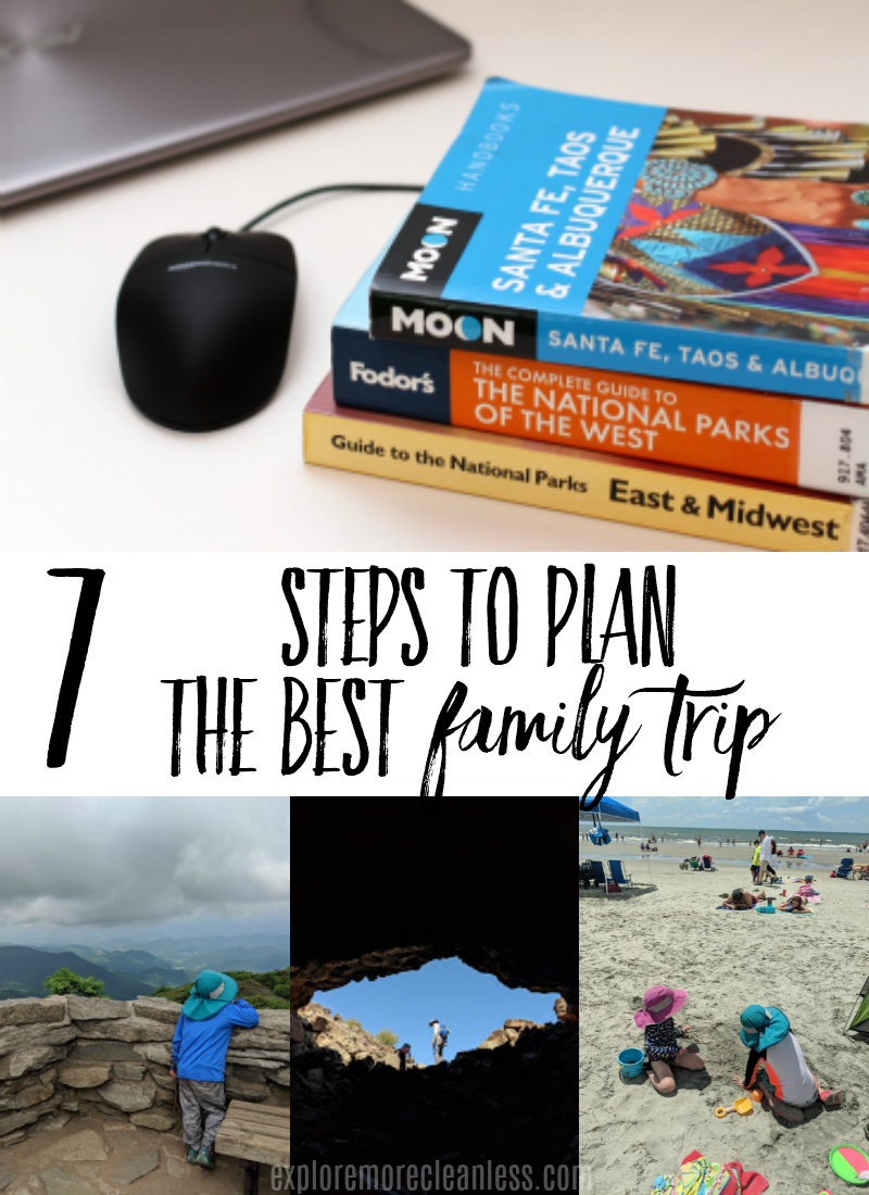 Get a step by step plan for how to plan a family vacation. Don't panic, don't outsource, just take it piece by piece and make this vacation the best one yet! #travel #trip #vacation #traveltips #travelwithkids