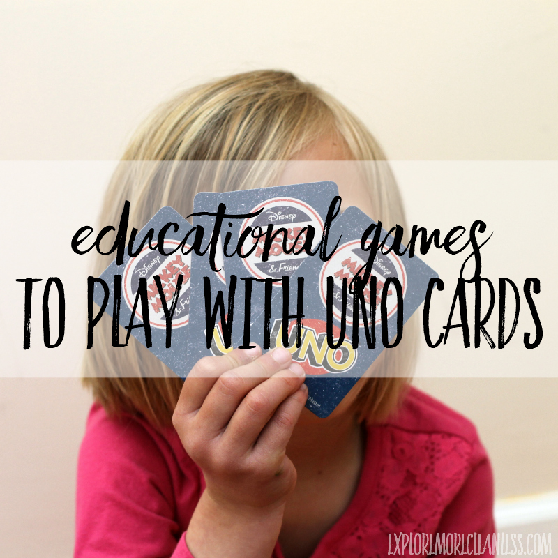 educational games to play with uno cards