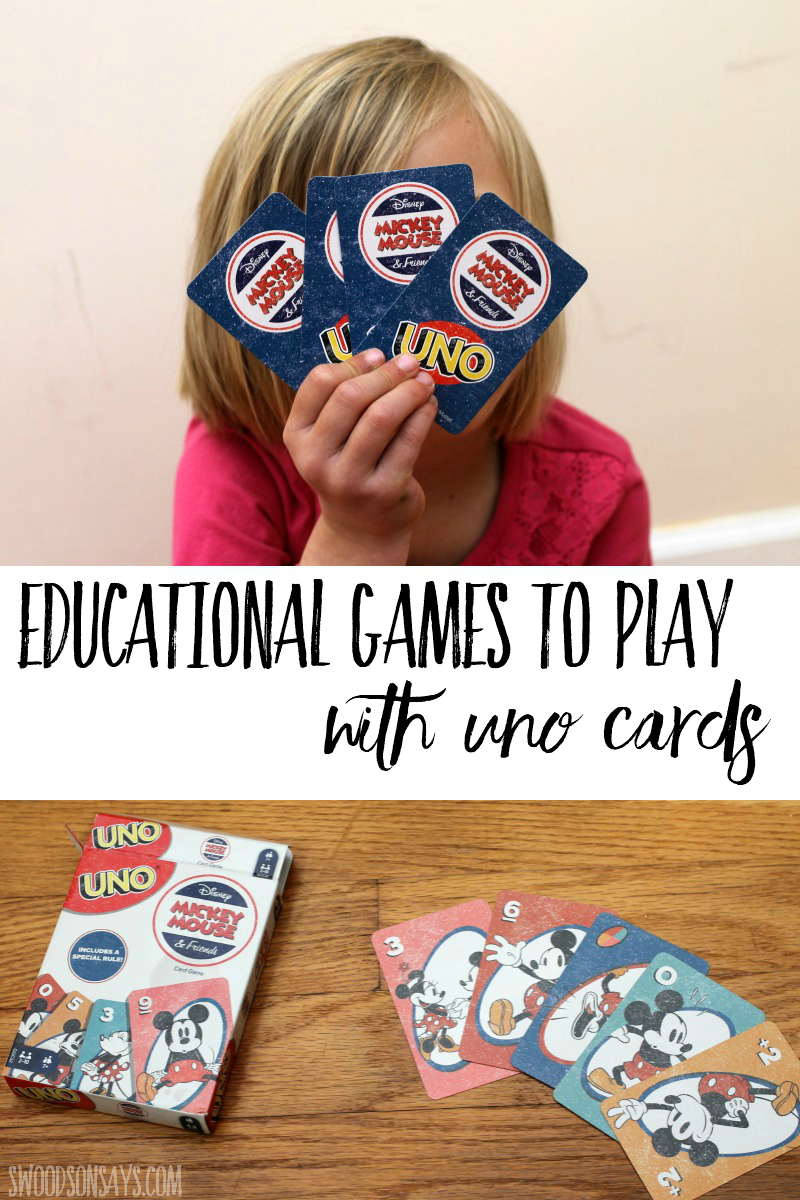 how to learn math with uno cards