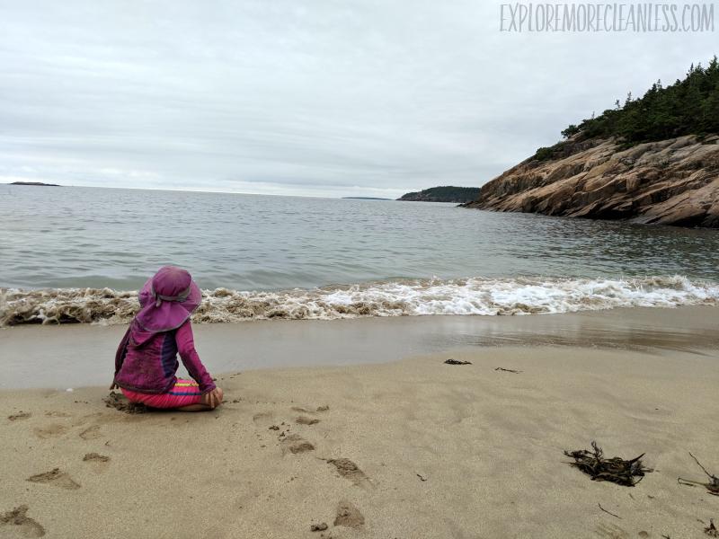 sand beach acadia national park kids
