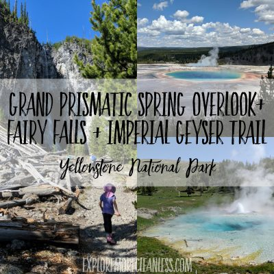 Grand prismatic spring hike on fairy falls trail yellowstone to imperial geyser