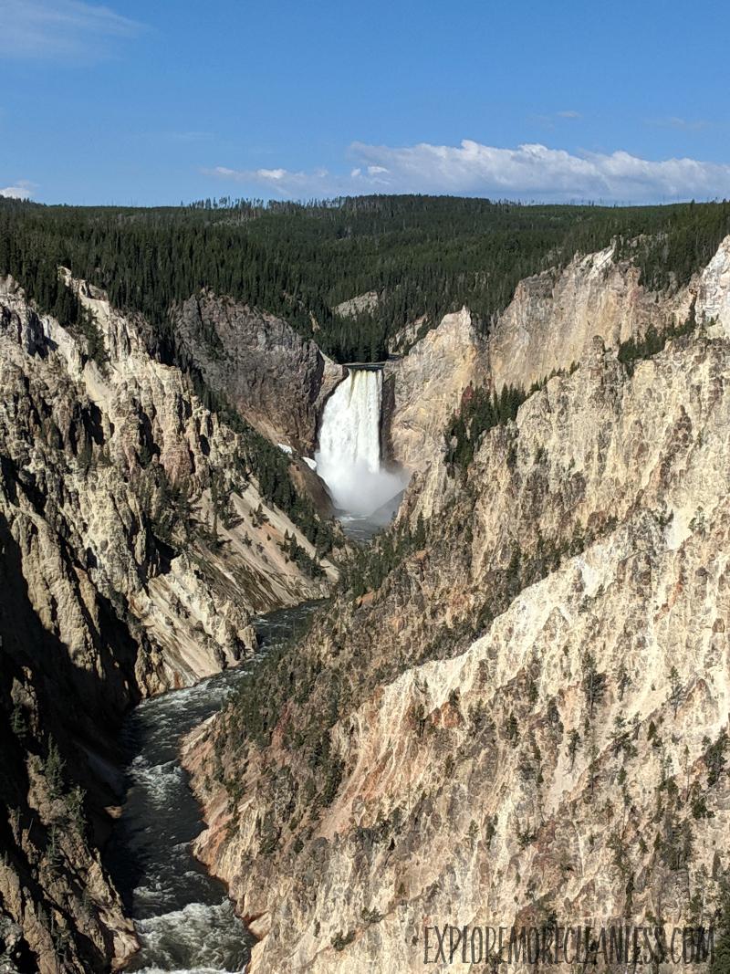 yellowstone falls artist point