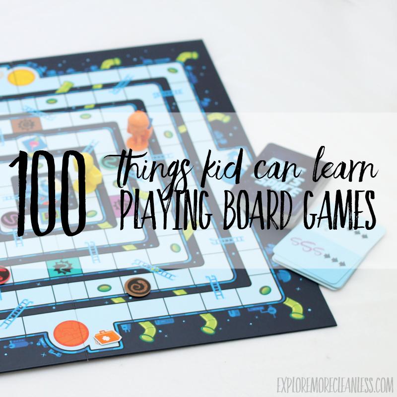 100 Things Kids Can Learn with homeschool board games aka gameschooling
