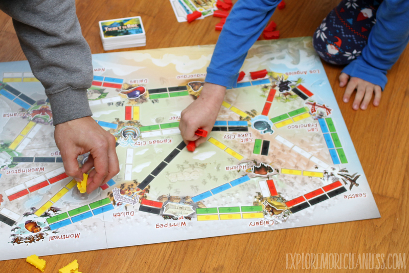 geography board game with kids