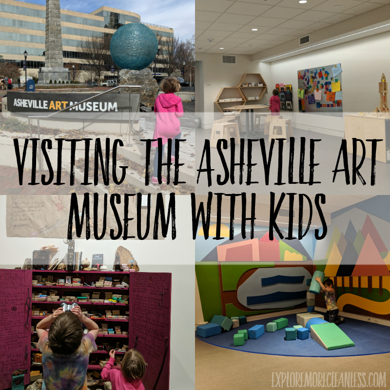 Visiting the Asheville museum of art with kids