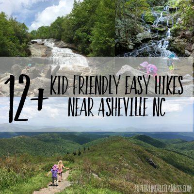 Kid friendly easy hikes near Asheville NC