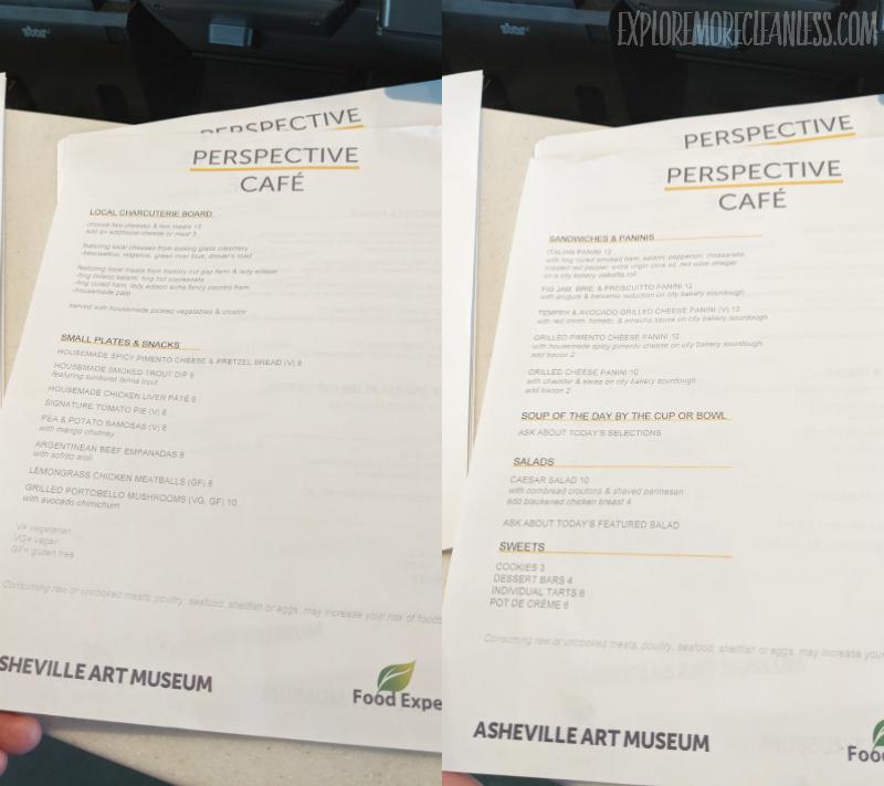 asheville museum menu