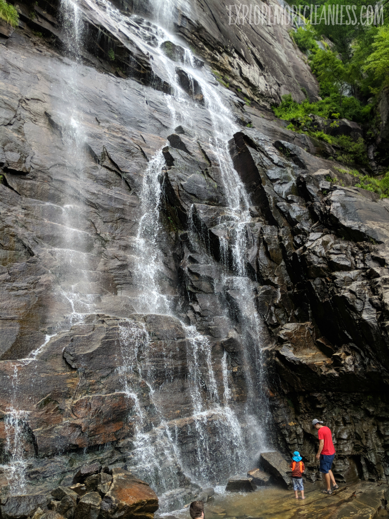 chimney rock state park waterfall trail