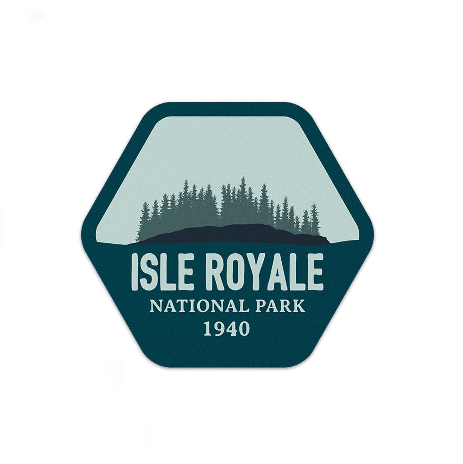isle royale national park sticker