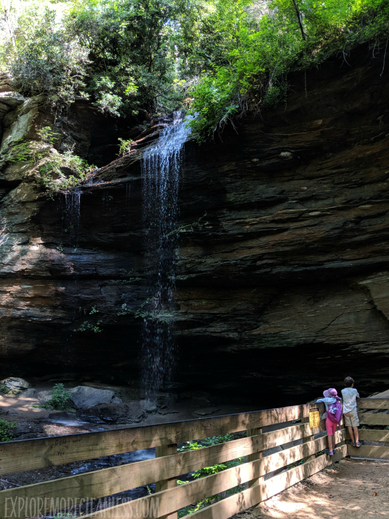 moores cove falls with kids
