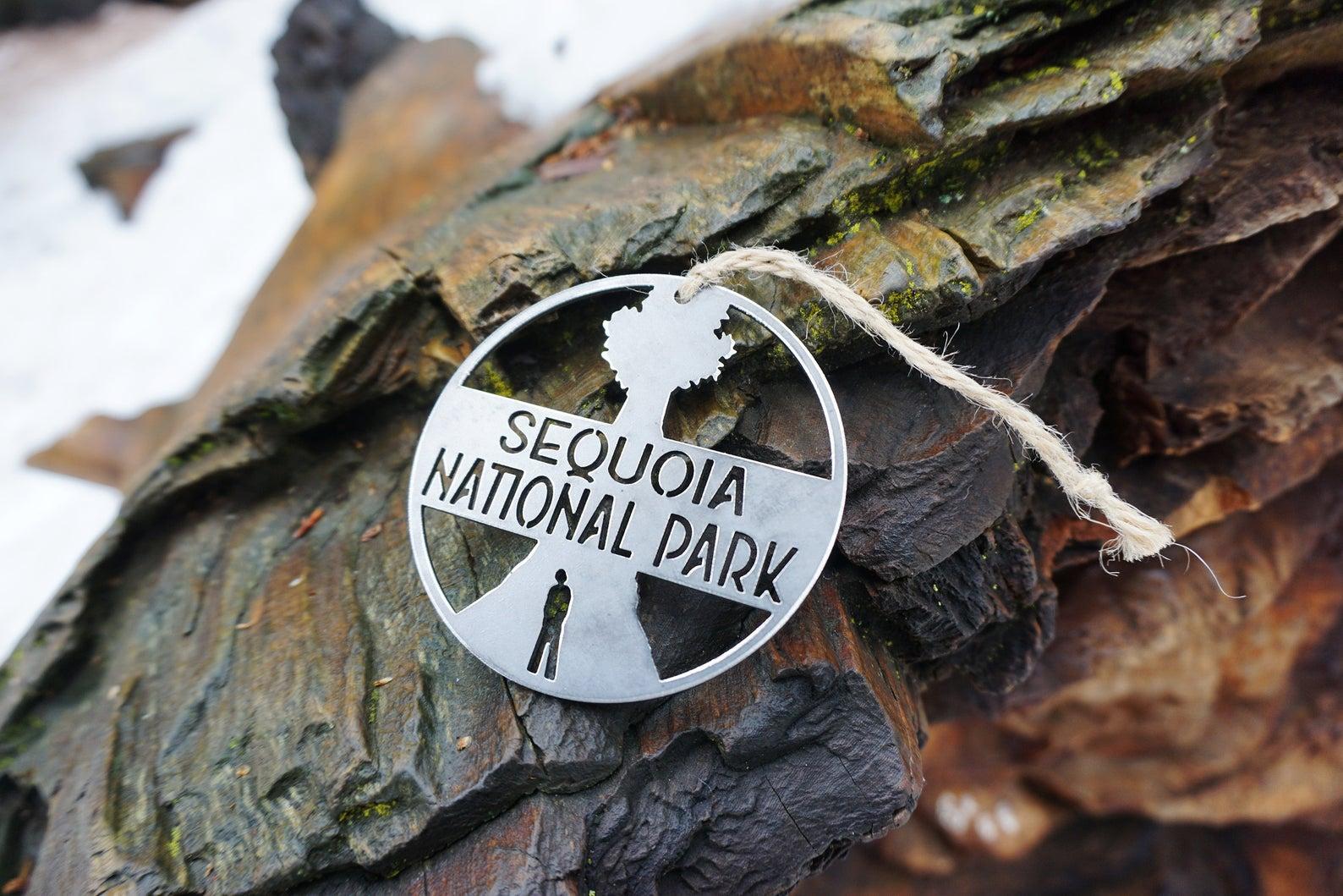 sequoia national park metal ornament