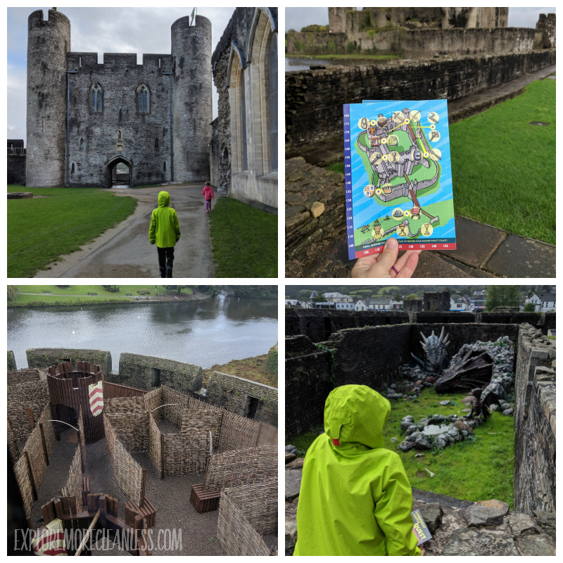 caerphilly castle with kids