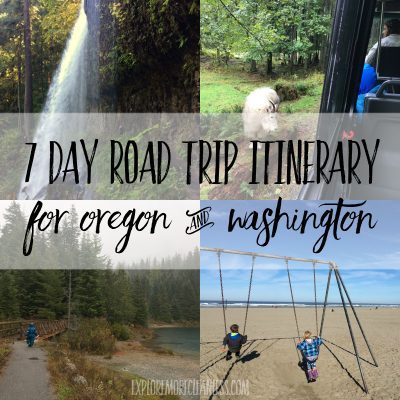 7 day Oregon Washington road trip itinerary with kids
