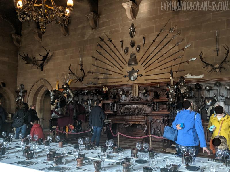 dining hall warwick castle