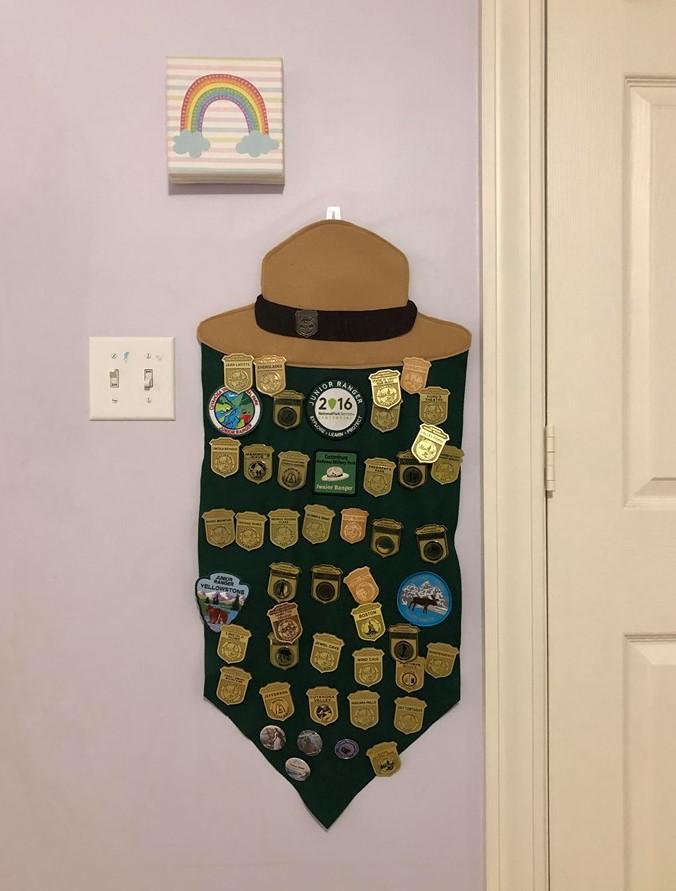 junior ranger badge felt pennant diy