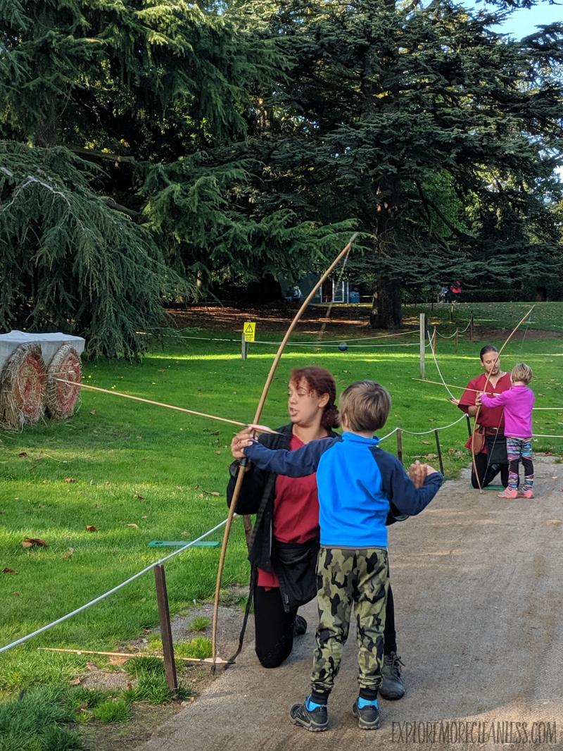 kids archery warwick castle