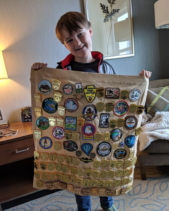 patch and pin display national park