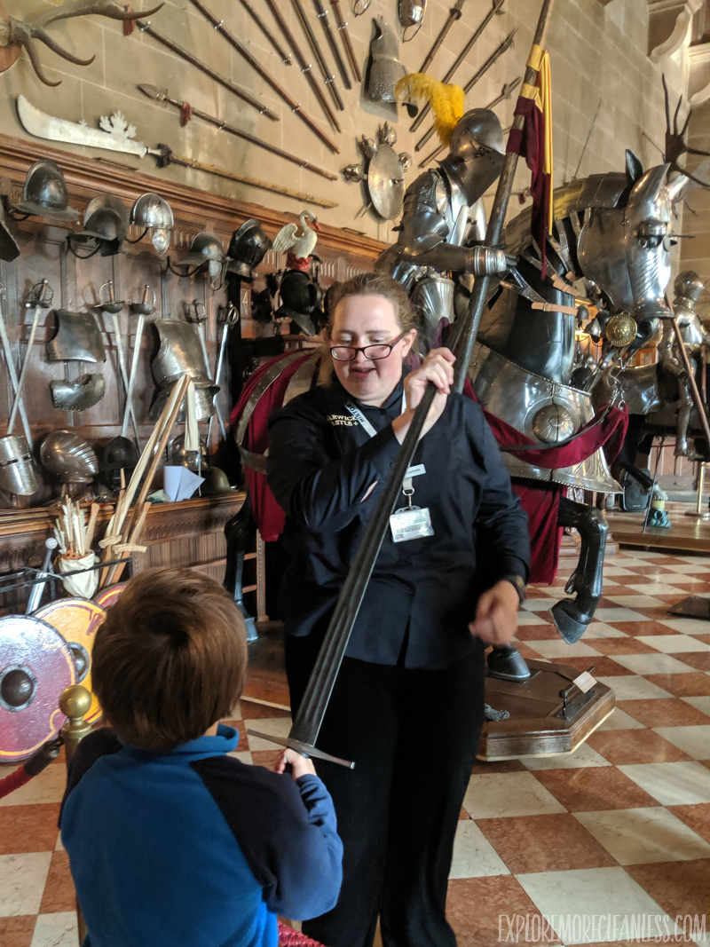 weaponry warwick castle