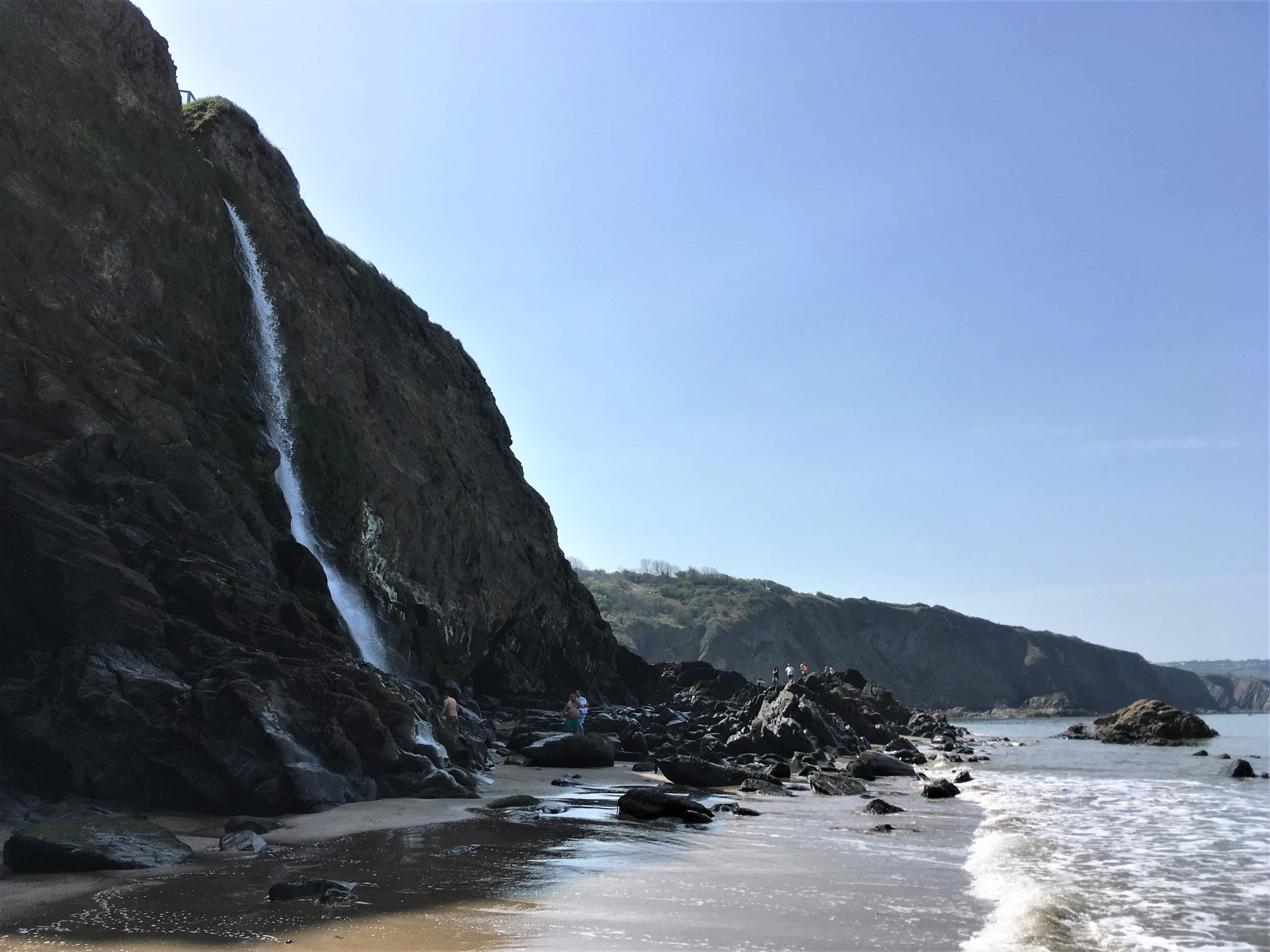 Tresaith Beach in Wales, UK