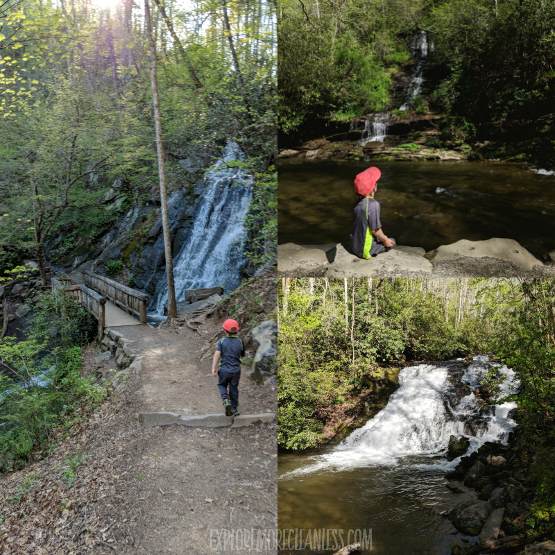 deep river waterfall hike kids