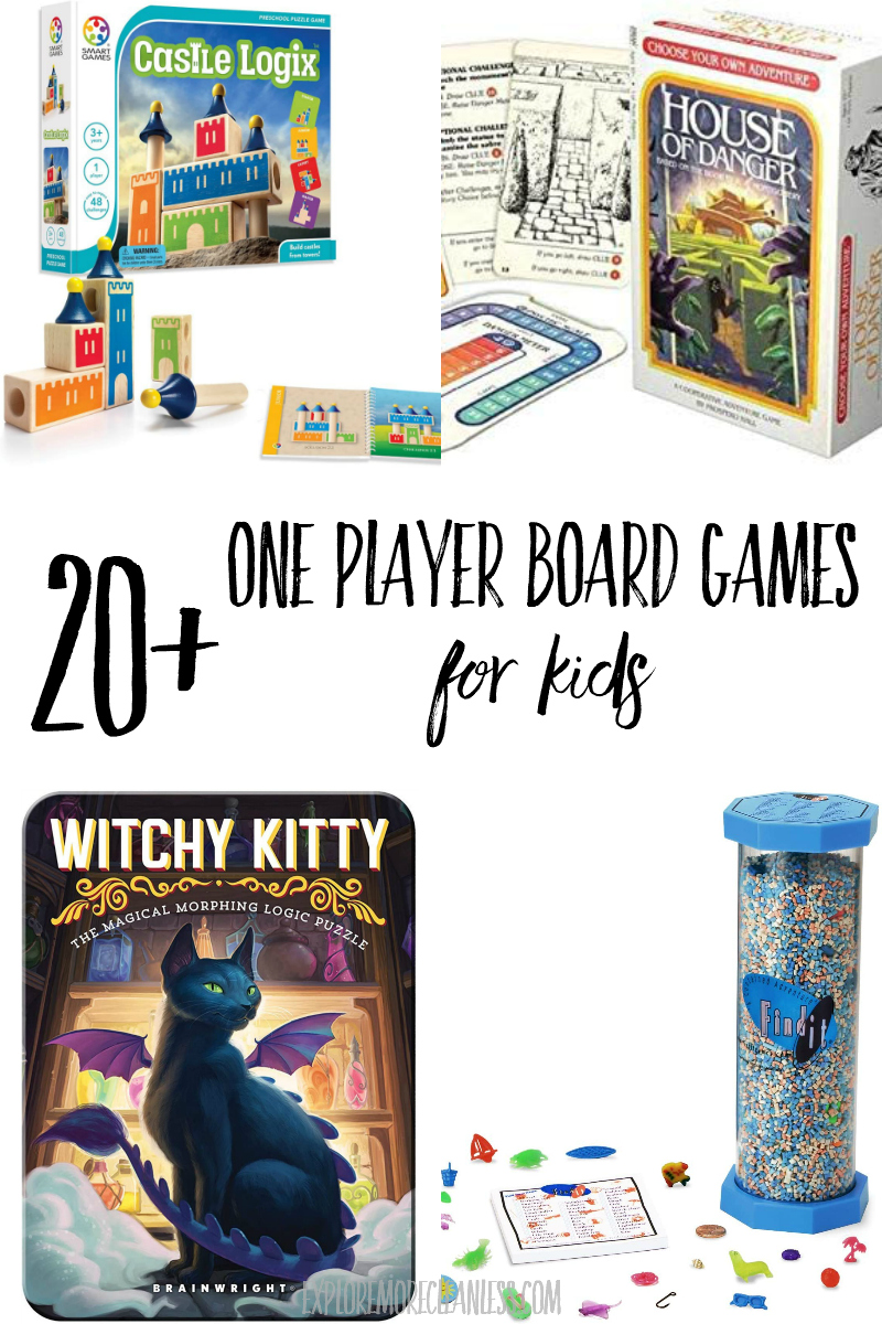 single player board games for kids