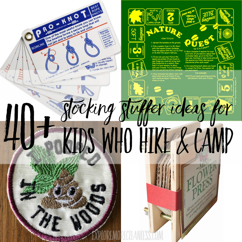 stocking stuffers for kids who hike and camp