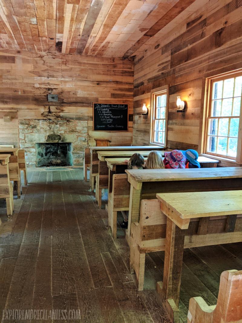 cradle of forestry schoolroom